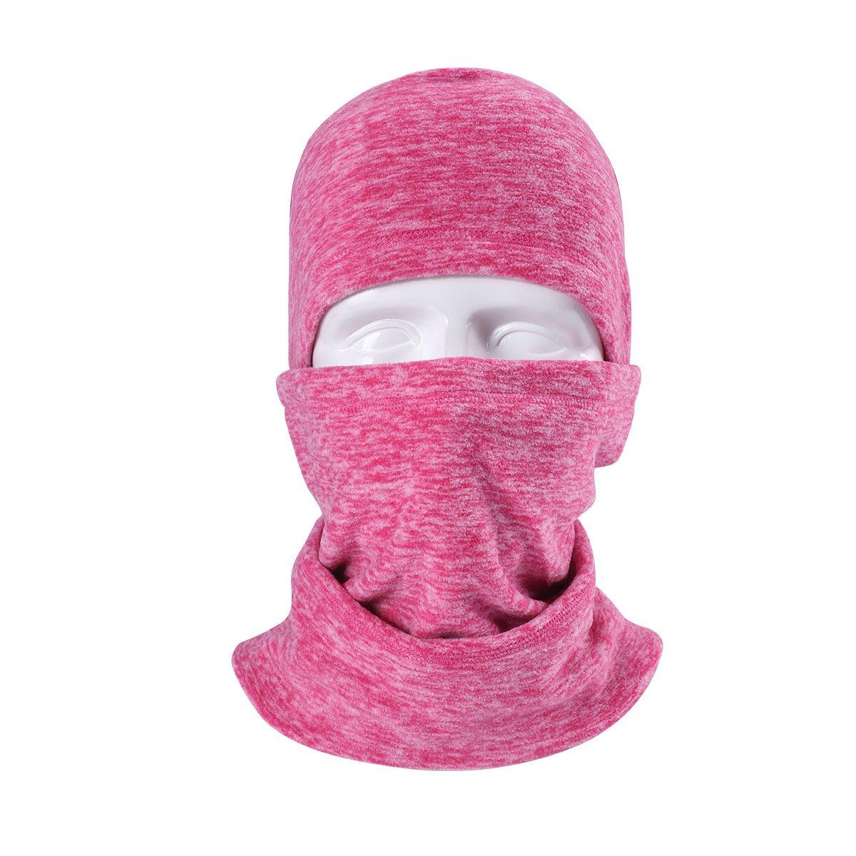 Runtlly Winter Heavyweight Mask Warm Windproof Balaclava Motorcycle Tactical Skiing Face Mask LightCoral