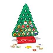 Melissa & Doug Countdown to Christmas Wooden Advent Calendar, Seasonal & Religious, Magnetic Tree, 25 Magnets, 16.5  H x 12  W x 4.25  L