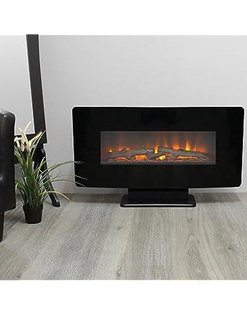 Zimmer Kamin Deko LED-Kamin Kunststoff schwarzer Rahmen 29 cm x 11 cm x 19 cm