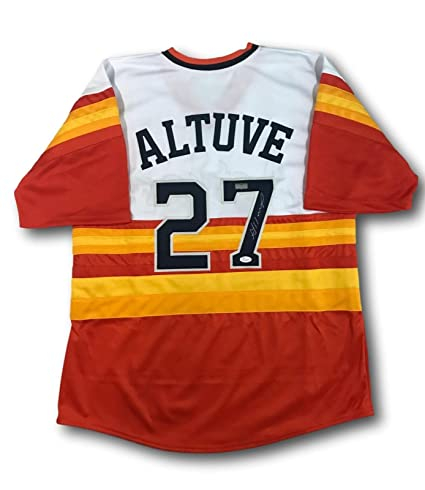d35f8fdc Image Unavailable. Image not available for. Color: JOSE ALTUVE SIGNED HOUSTON  ASTROS RAINBOW JERSEY ...