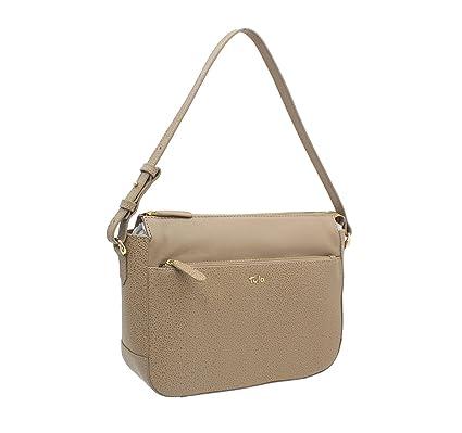 Tula RYE Collection Pebbled Leather Shoulder Bag 8433 Beige  Amazon.co.uk   Luggage bd5b7635b0e83
