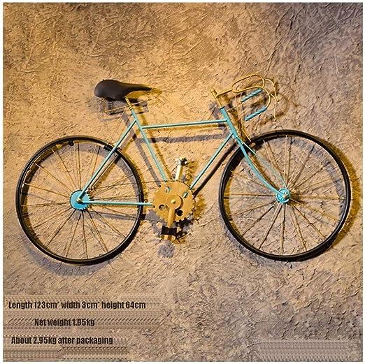 YILIAN Zhiwujia Vintage Hierro Forjado Bicicleta Pared Creativa ...