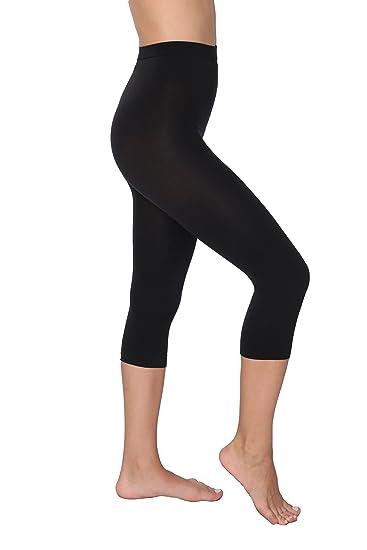 0d8cbd3014 Hanes 1   2 Pack Shaping Slims Waist Capri Black Plus Size (Large
