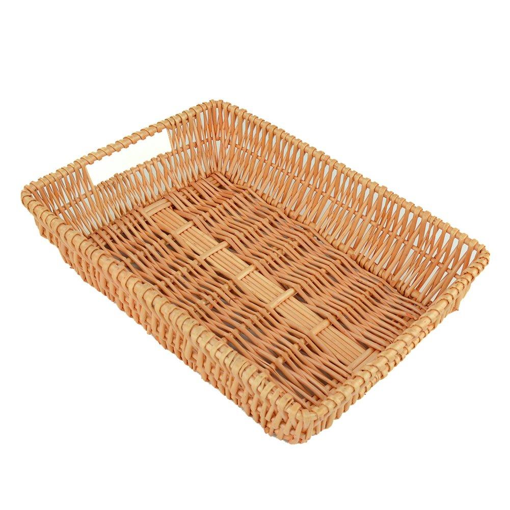 Rurality Rectangular Wicker Storage Basket for Home, Shops or Markets JINGSEN EPLBSNL002