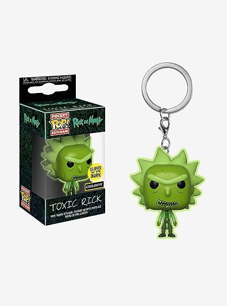 POCKET POP Funko Rick Morty Toxic Rick Glow in The Dark Exclusive Keychain Keyring