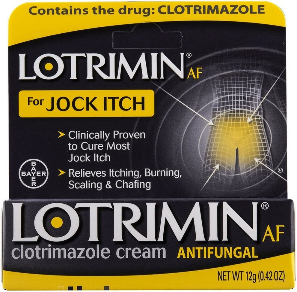 Lotrimin AF Jock Itch Antifungal Cream 0.42 oz (Pack of 2): Health & Personal Care