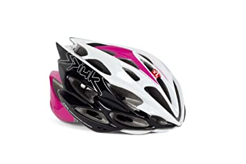 Spiuk Nexion - Casco de ciclismo, color fucsia / blanco / negro, talla 53