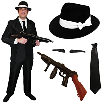 5e9033b138dc1 ADULTS 1920S GANGSTER FANCY DRESS COSTUME - PERFECT FOR MENS MAFIA GATSBY  BUGSY MOB BOSS CAPONE FANCY DRESS PARTIES - SMALL  Amazon.co.uk  Toys    Games