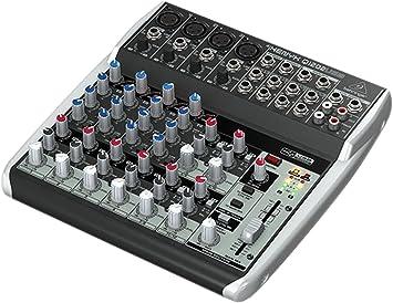 Behringer Q1202USB - Consola de mixage, 230 V, 12 entrantes con ...