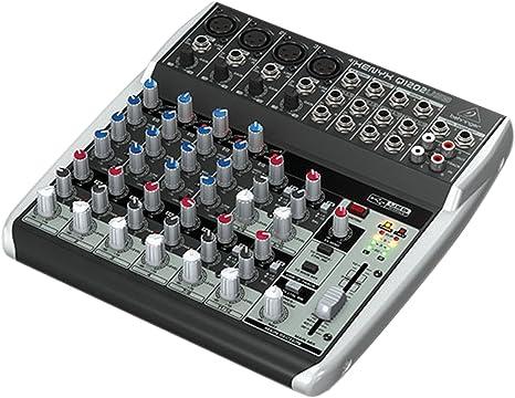 Amazon.com: Behringer - Mesa de mezclas Q1202USB de 12 ...