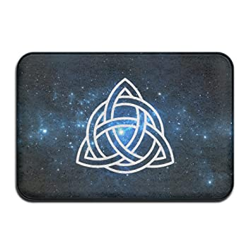 Funny Triquetra Holy Trinity Symbol Celtic Christian Welcome Mat