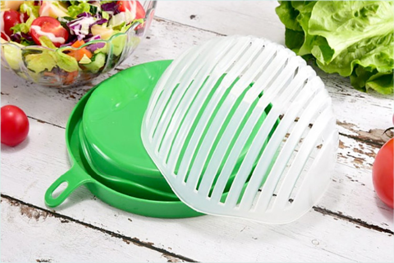 Salad Cutter Bowl, Pasito Salad Maker 60 Seconds Fast Fruit Vegetable Cutter Bowl