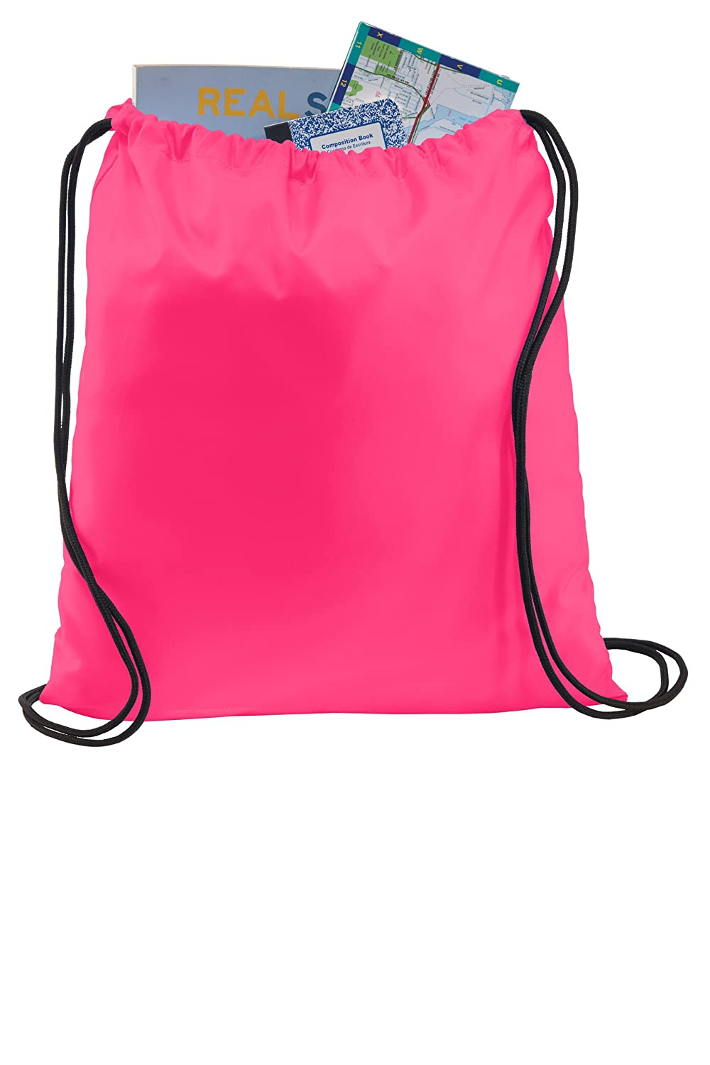 f1e0155046 12 PACK Wholesale Polyester Ultra Core Drawstring Backpacks