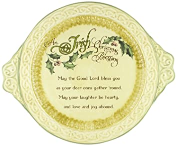 an irish christmas blessing ceramic platter