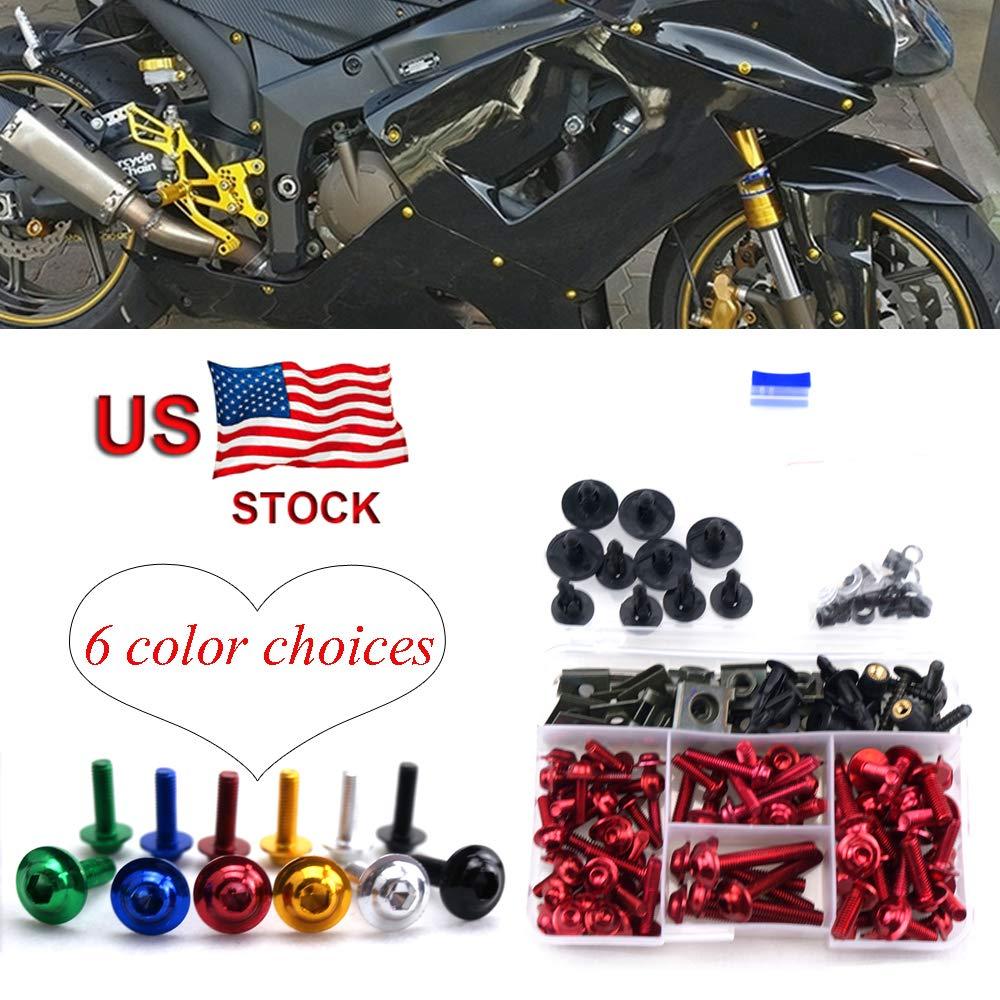 Complete Bolt Motorcycle Fairings Clips Kits 1Set M5 M6 For Suzuki RF 900 R RF900R RF 900R RF900 R 1993-1999