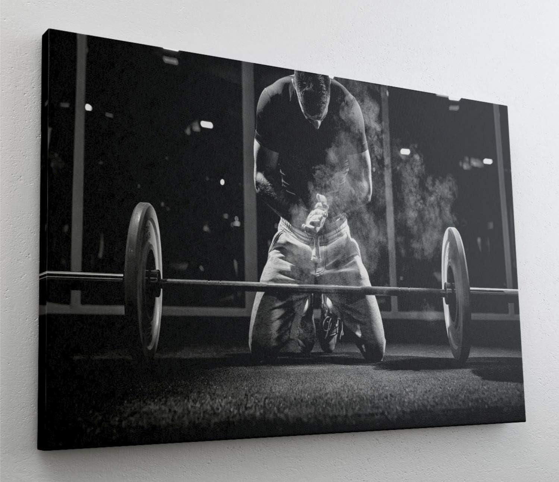 Bodybuilder Fitness Training Sport Leinwand Bild Wandbild Kunstdruck L0625 Gr/ö/ße 70 cm x 50 cm