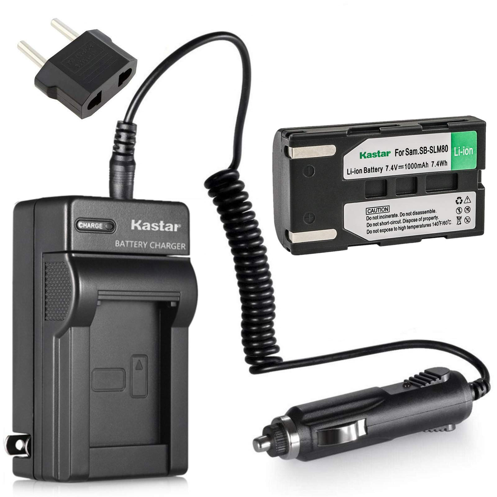 Kastar Battery and Charger for Samsung SB-LSM80 SB-LSM160 SB-LSM320 and SC-DC163 SC-DC164 SC-DC165 SC-DC171 SC-DC173 SC-DC563 SC-DC564 SC-DC575 SC-D355 SC-D365 SC-D366 SC-D371 SC-D372 SC-D375 SC-D453