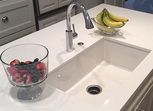 Mitrani USA TOSCAN-SB-W 26 3 8 inch Fireclay Farmhouse Smooth OR Fluted White Kitchen Single Bowl Sink