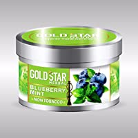GOLDSTAR Herbal NON Tobacco Smoke BLUEBERRY MINT Flavor Premium Hookah 200 gm