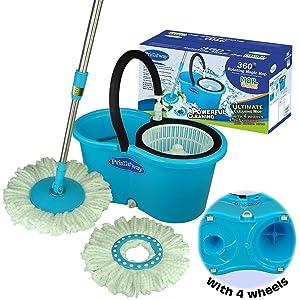 Primeway Ultimate Magic Mop Cleaning Mop Set (Blue and Black)