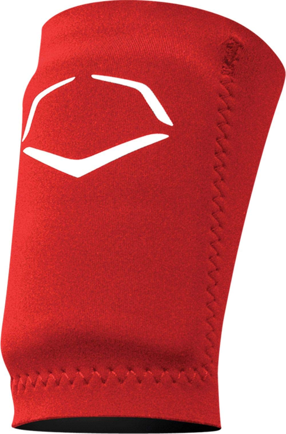 EvoShield Adult Solid Batter's Protective Wrist Guard (L, Red)
