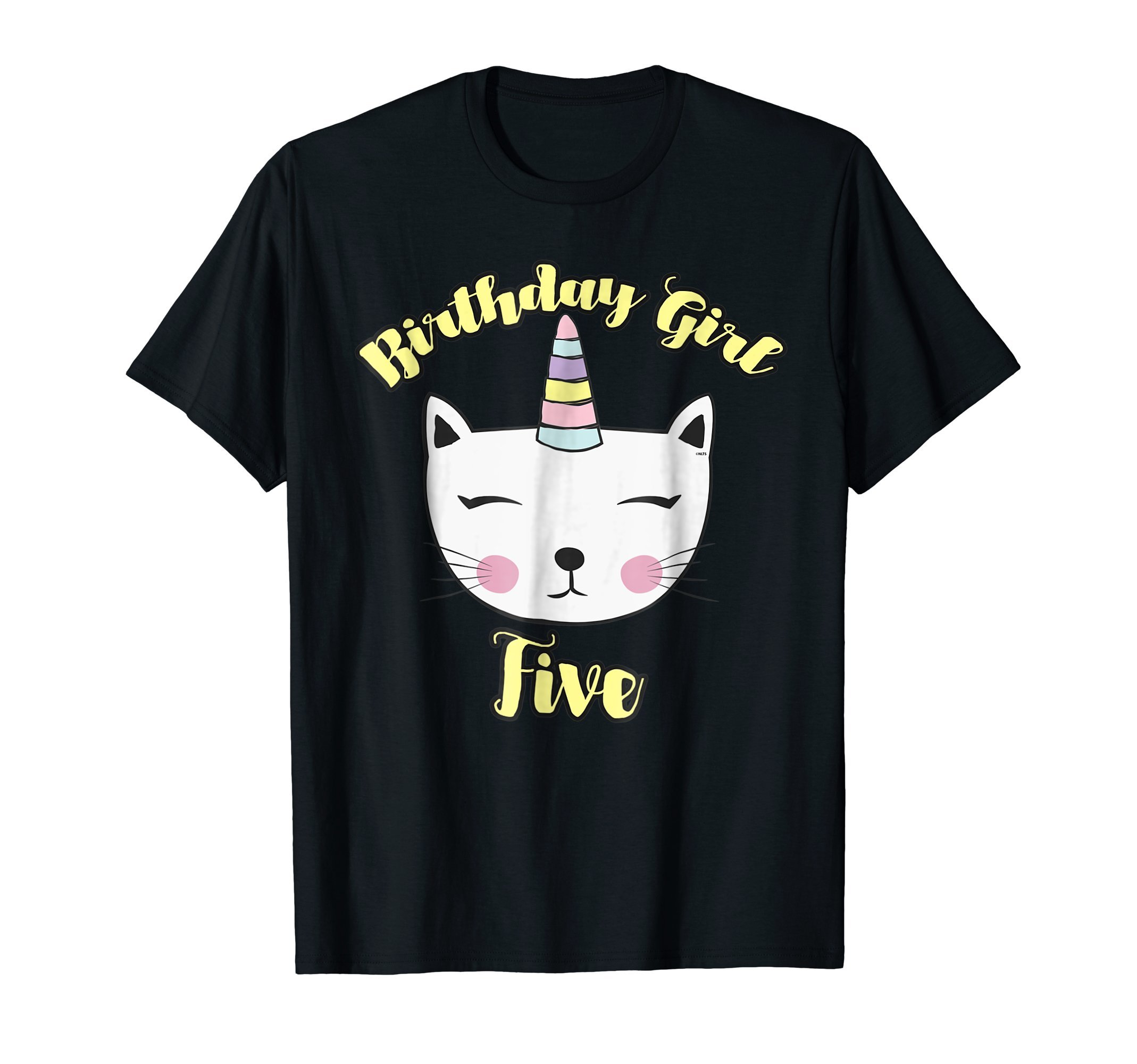 Caticorn-Birthday-Girl-for-5th-Birthday-T-Shirts-Shirts-Tee