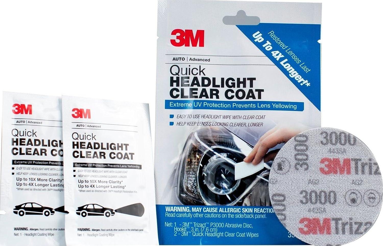 3M 39173 Quick Headlight Clear Coat Wipes
