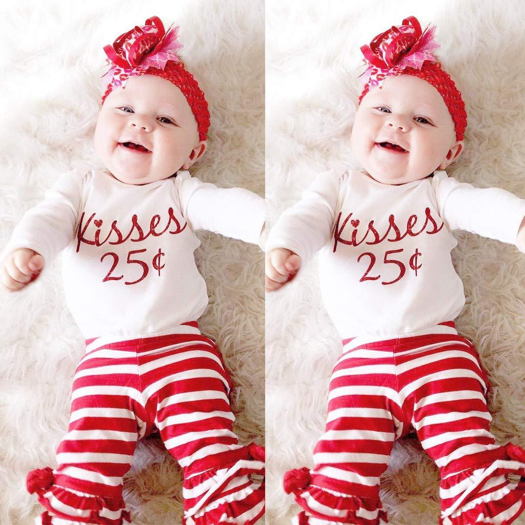 Set MRULIC 3St/ück Baby M/ädchen Langarm Tops Hosen Outfits Taufbekleidung Bekleidungssets St/ücke Schal Neugeborene Winter Plaid Pullover Mit Oberteile Tops
