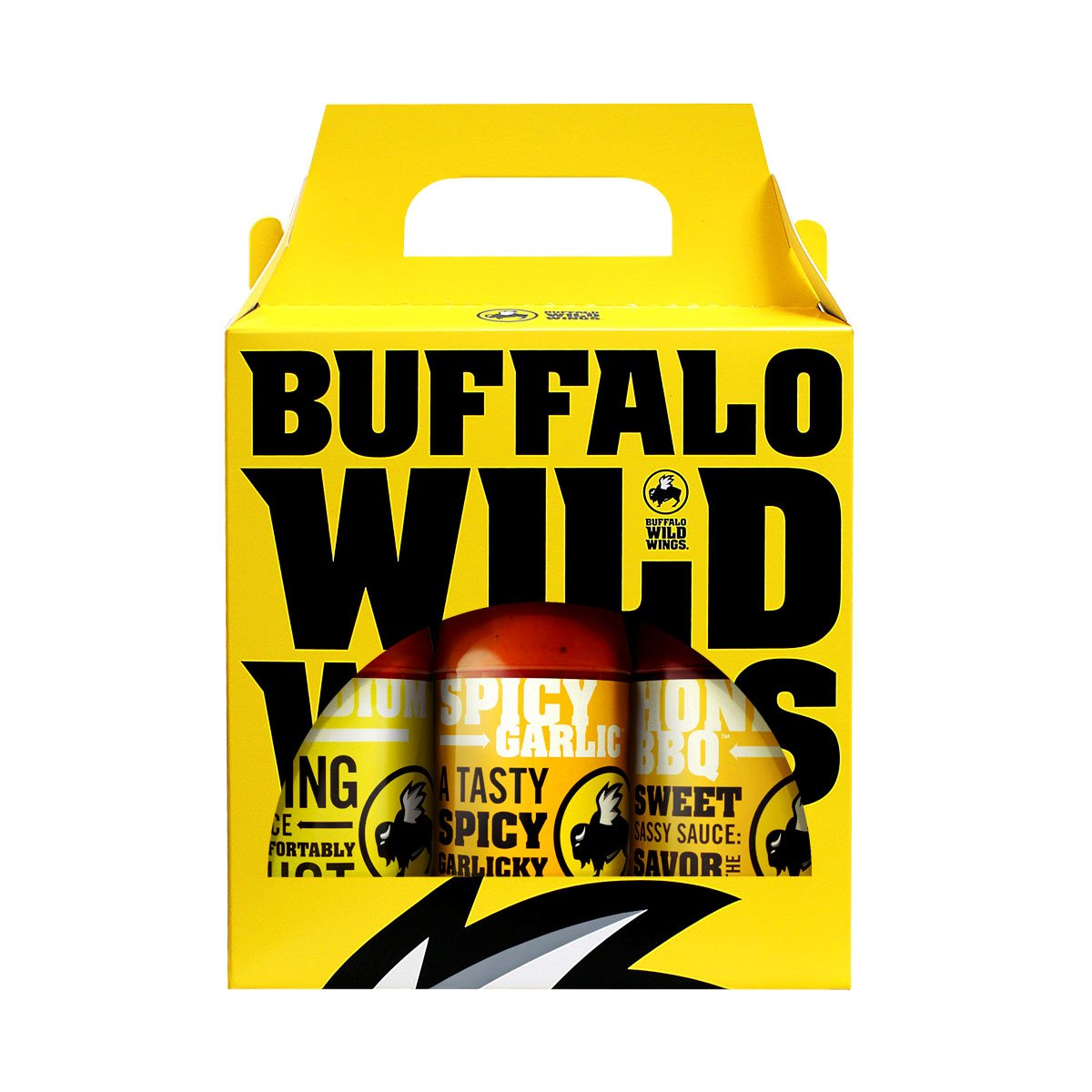 Buffalo Wild Wings Flavor Variety Pack (Medium, Spicy Garlic, Honey BBQ)