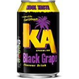 KA Sparkling Black Grape Cans, 330 ml, Pack of 24