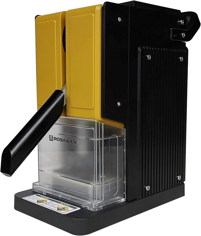 Rosineer PRESSO-E - Máquina de prensa de calor personal (680 kg, portátil, regulación precisa de la temperatura de dos canales), color amarillo dorado
