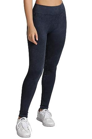bd4c6ee32af0d8 Nikibiki Womens Seamless Premium Vintage Moto Leggings (Black, One Size)