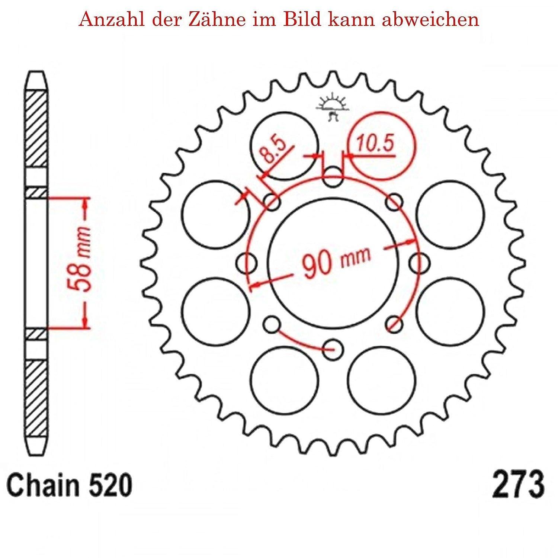Kettenrad mit 41 Z/ähnen f/ür XL 125 V Varadero 2001-2013 von jt-Sprockets