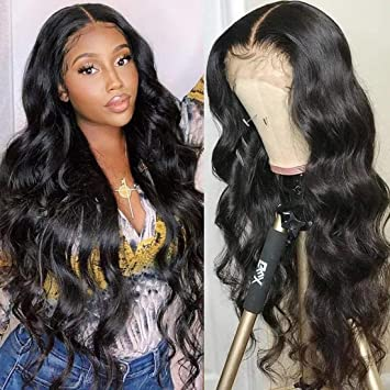 Amazon Com Beauty Forever Wigs 13x4 Body Wave Lace Front Wigs 100 Brazilian Virgin Human Hair Wig For Black Women Pre Plucked With Baby Hair Natural Black 150 Density 16 Inch Beauty