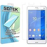 SDTEK Sony Xperia Z3 Compact Verre Trempé Protecteur d'écran Protection Résistant aux éraflures Glass Screen Protector Vitre Tempered