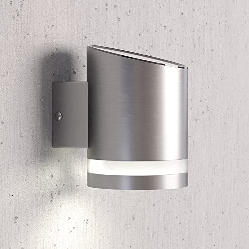 Waterproof solar wall lantern light stainless steel solar powered solarcentre truro solar outdoor wall light mozeypictures Images