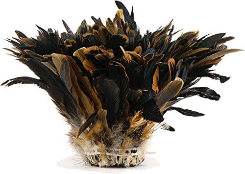 Coque pluma con flecos de color negro de 10 yardas recorte Irridescent
