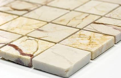 Lampada a mosaico mosaico piastrelle di rete parete golden cream