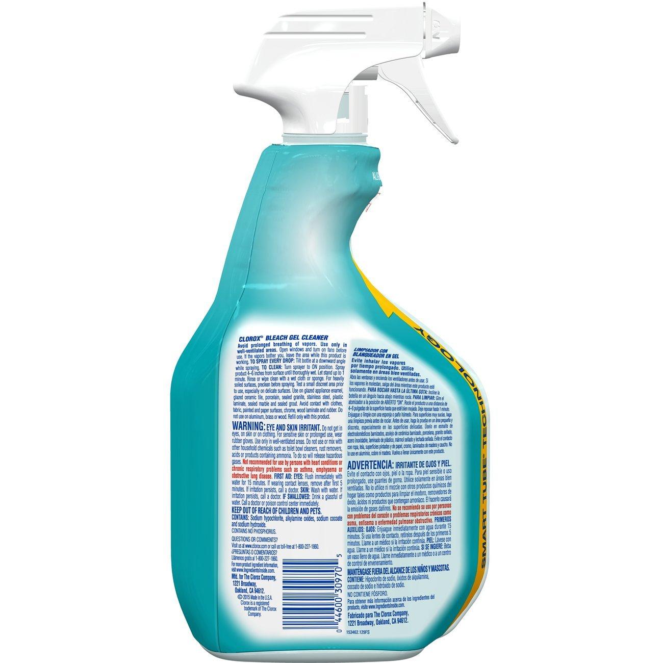 Amazon.com: Clorox Gel Cleaner with Bleach, Splash-Free – 30 Ounce ...