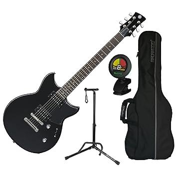 Yamaha revstar RS320 BST double-cutaway cuerpo de guitarra eléctrica (negro) de acero w/bolsa de concierto, sintonizador, y soporte: Amazon.es: Instrumentos ...