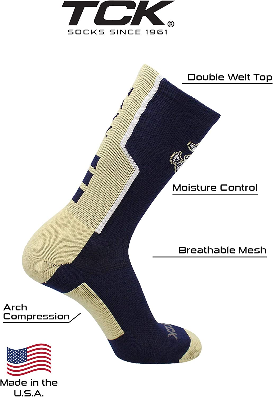 TCK United States Naval Academy Socks Navy Midshipmen Perimeter Crew Socks