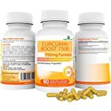 Curcumin Boost 7500 Supplement with added Bioperine® - SupplementsYou – 60 Capsules with a massive 712.5mg of active Curcuminoids per capsule. Fight internal & external Inflammation - 95% Curcuminoids.