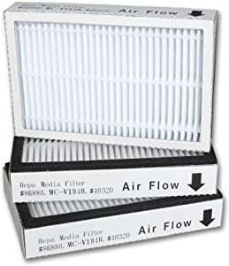 ATXKXE Vacuum Cleaner HEPA Filter Replacement for Sears Kenmore Exhaust EF-2 (Part #86880) and Panasonic (MC-V194H), 3 Pack