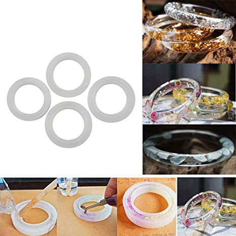 Round Silicone Mold Casting Mould For Resin Bracelet Bangle DIY Jewelry To ITS