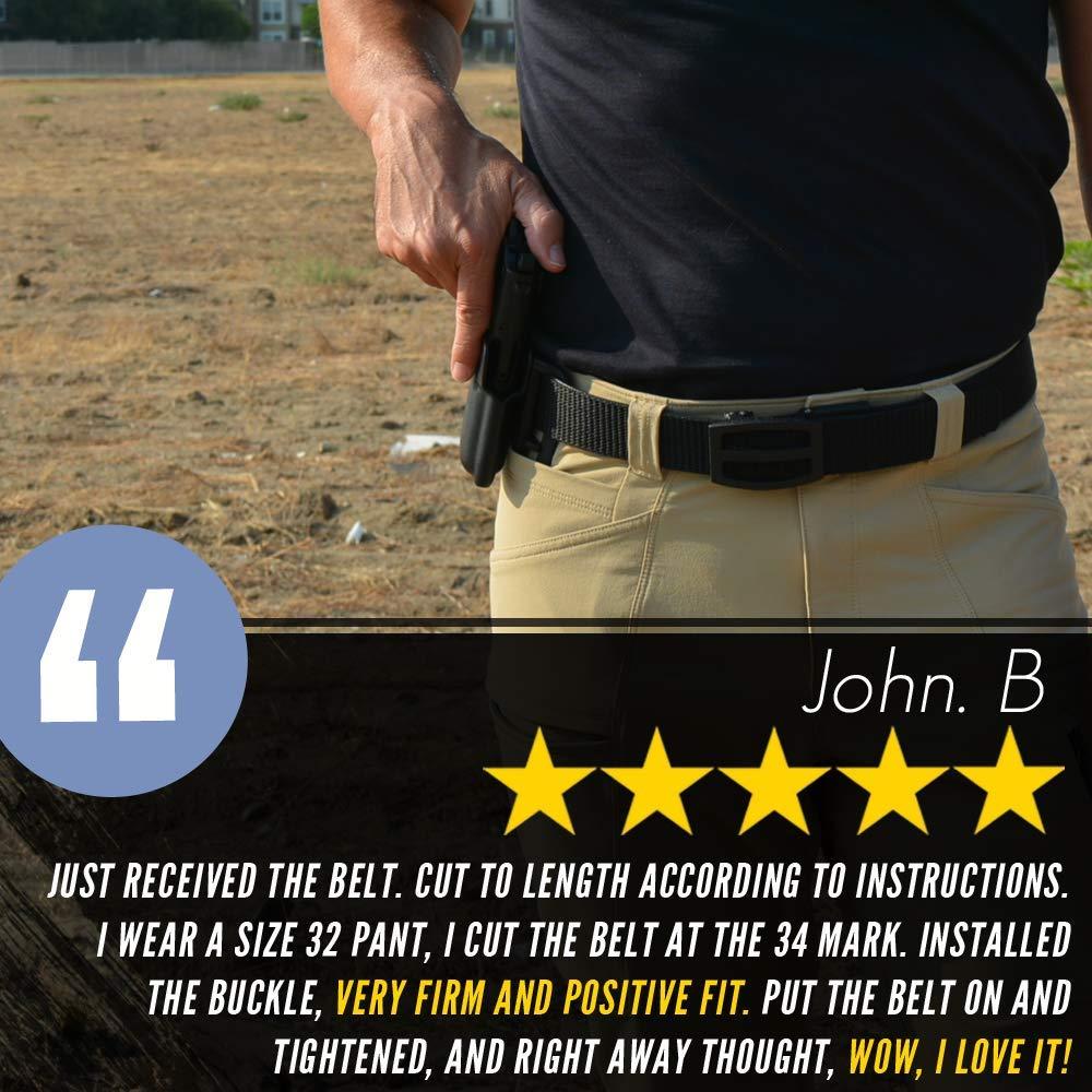 Nexbelt 2019 Titan Black Men's EDC Tactical Belt Ratchet System Technology Mens Nylon Gun Belts by Nexbelt (Image #2)