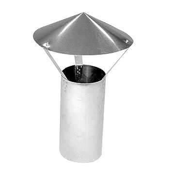Kamino - Flam – Techo protector para tubos de chimenea (Ø 120 mm),