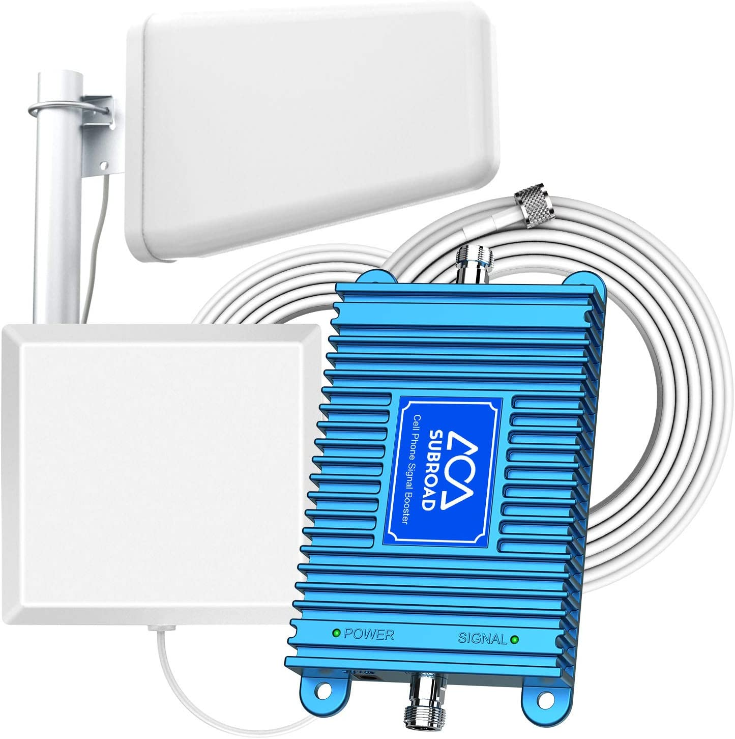 Verizon Antenna Signal Booster for Home 4G LTE 700MHz Band 13/12/17 AT&T T-Mobile Straight Talk U.S. Cellular Boost Voice and Data Cell Phone Signal Booster Cover Up to 5,000Sq Ft