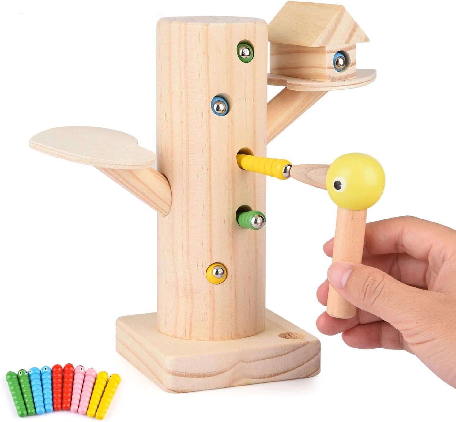 FORMIZON Juego Infantil Magnetico, Juguete de Madera para Niños Magnético Juego, Juego de Atrapar y Alimentar Físicas y Emocionales en Bebes y Niños de Edad Preescolar (A)