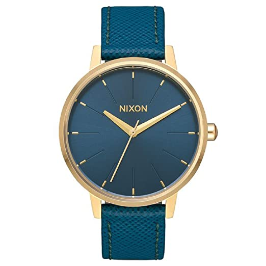 Nixon Kensington Reloj de pulsera con correa de piel para mujer