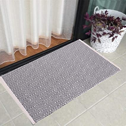 Astounding Hebe Cotton Area Rug 2X3 Machine Washable Modern Reversible Indoor Area Rug Mat For Bedroom Laundry Room Living Room Kitchen Interior Design Ideas Oteneahmetsinanyavuzinfo